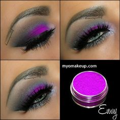 Well hello there  I have decided to throw some color out here again  Above you see the recently released @myomakeup loose Eyeshadow in 'Envy' perfect name for this stunning matte purple! Other products used: @motivescosmetics Pacific Sea, Onyx, Cappuccino & Liquid. The Gel Eyeliner Little Black Dress & the Waterproof Eyeliner Pen in Black Magic Glitter along the lower lash line is the fabulous 'Glenda' by @shopvioletvoss Lashes are @houseoflashes Noir Fairy of course  Have a wonderful n...