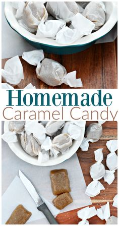You're going to love this quick and easy recipe for homemade caramel candies! WARNING: Once you start eating them, you can't stop! Easy Snacks, Quick Easy Meals, Candy Recipes, Dessert Recipes, Potato Candy, Caramel Candy, Peanut Brittle, Peanut Butter Recipes, Homemade Candies