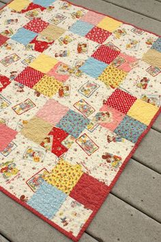 Diary of a Quilter - a quilt blog: Simple Four-patch Baby Quilt