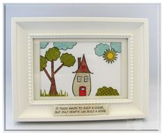 RETIREMENT SALE- Home Is stamp set from Gina K Designs - on sale through 12/31/12. http://www.shop.ginakdesigns.com/category.sc?categoryId=97   -Wall Hanging by Carolina Buchting