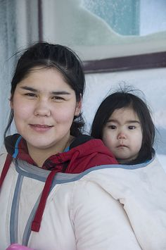 Inuit mother, from Rankin Inlet, Canada.