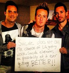 Suicide awareness by John Cooper of Skillet and Jacoby Shaddix and Jerry Horton of Papa Roach