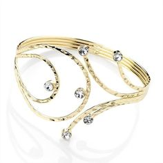 GOLD LOOK UPPER ARM BANGLE BRACELET CUFF ARMLET WEDDING