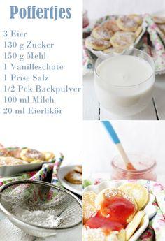 : Poffertjes (holländische Pfannkuchen)   Ohne eierlikör besser;)                                                                                                                                                                                 Mehr