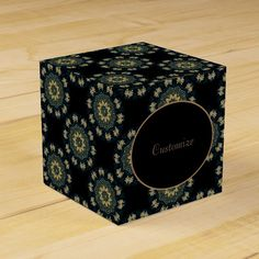 Shop Chic Gold & Green Asian Style Cube Favor Box created by BlueRose_Design. Japanese Party, Favor Boxes, Asian Style, Colorful Backgrounds, Classic Style, Cube, Favors, Green, Prints