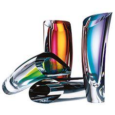 Kosta Boda Glassware Kosta Boda Aria Vase, Amber