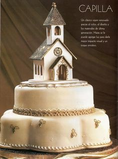 cake with church