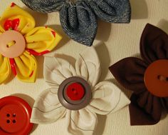 fabric flowers #fabric #flower