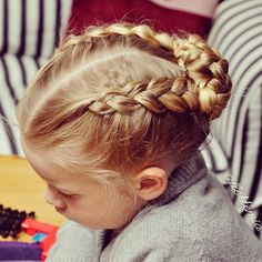 """Dutch braids into braided bun for the #nordichairtwin ❤️"" Photo taken by @flettemia on Instagram, pinned via the InstaPin iOS App! http://www.instapinapp.com (04/10/2015)"