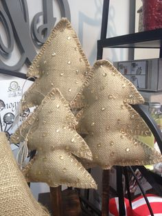 Burlap trees -  Sharon Marshman would this work with your theme?