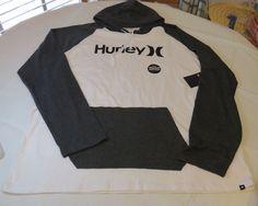 Hurley hoodie hoody shirt long slv Men's XXL One & Only Raglan MTS0013930 WHB1 #Hurley #Raglanhoodie
