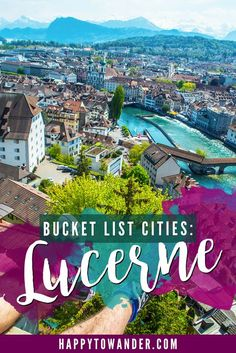 The most beautiful city in Switzerland! A must-see if you're in Europe. #Travel #Europe