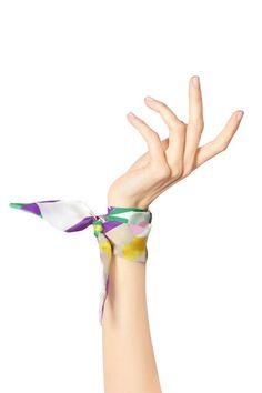 SALE: 30% OFF Monique Silk Bracelet. Handmade from Italian