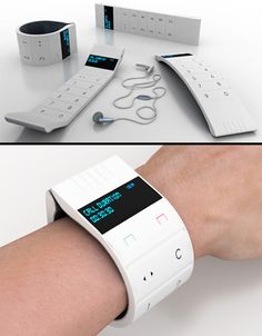 Flexible Cell Phone Concept  Beautiful wrist concept cell phone designed by Shirley A. Roberts