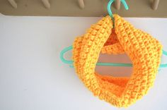 Handmade Crochet Yellow Kid's Cowl Cowl For by FarahsAttic on Etsy, $12.00