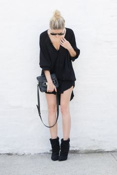"""figtny.com   outfit • 63 Bless'ed are the Meek dress / Isabel Marant """"Andrew"""" boots / PS11"""