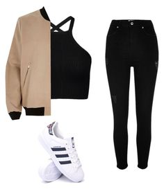 """""""fashion"""" by maria-florencia1 on Polyvore featuring River Island and adidas"""