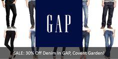 SALE: 30% Off Denim In GAP, Covent Garden! Floral St. (LW7)