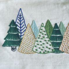 いいね!310件、コメント5件 ― Naoko Asagaさん(@pontomarie)のInstagramアカウント: 「森の刺繍 ・ ・ ・」