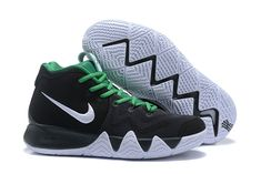 6b8b94f50255 How To Buy Nike Kyrie 4 Black White Green Basketball Shoe For Sale