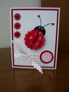 Polka Dot Ladybug by Shadow - Cards and Paper Crafts at Splitcoaststampers