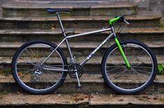 Kona Hei Hei Titanium Mt Bike, Mtb Bicycle, Retro Bikes, Vintage Bikes, Kona Hei Hei, Kona Bikes, Bike Parts, Classic Bikes, Bike Stuff
