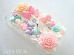 Roses and Sweets - Decoden iPhone Case for 4/4s. $35.00, via Etsy.