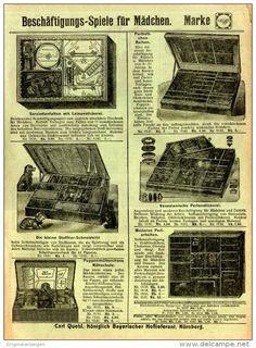 Original-Werbung / FALT - PROSPEKT 1909 : 4-Seiter  NÜRNBERGER SPIELWAREN-FABRIK QUEHL - NÜRNBERG- je…