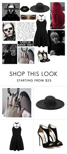 """""""Untitled #11"""" by youtube-crazy ❤ liked on Polyvore featuring Langdon, Fits, WithChic, Lime Crime, americanhorrorstory, ahs and tatelangdon"""