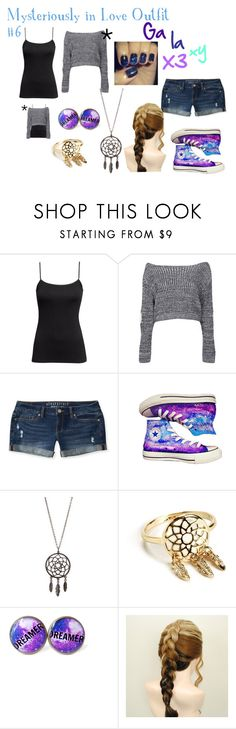 """""""Mysteriously in Love Outfit #6"""" by melodyfalls ❤ liked on Polyvore featuring H&M, Boohoo, Aéropostale and Converse"""