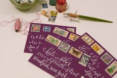 plurabelle >> vintage style lettering & envelopes..these are Gorgeous!!! She has the most beautiful handwriting!!