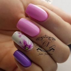 Gentle nails Ideas of gentle nails, July nails, Manicure Nails ideas Spring summer nails Summer colors for nails, Summer nails 2017 Summer Nails 2018, Spring Nails, 2017 Summer, Spring Summer, Two Color Nails, Nail Colors, Nails 2017, Manicure 2017, Nail Photos
