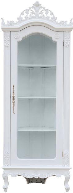 Helene French Corner Display Cabinet