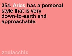 Aries has a personal style that is very down to earth and approachable. #Aries