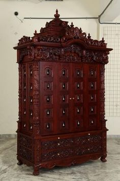 Indian Spiritual Teak Wood Pooja Mandir for Home In USA, Make to Order… Wooden Temple For Home, Temple Design For Home, Pooja Mandir, Pooja Room Door Design, Puja Room, Room Doors, Cool House Designs, Home Interior Design, Interior Ideas