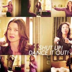 Greys anatomy is so wise. 30 second dance party i think yes.