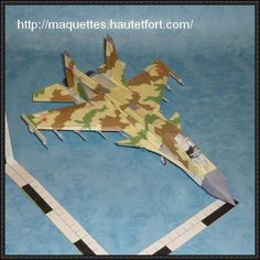 Sukhoi Su-35 / Su-37 Fighter Free Aircraft Paper Model Download - http://www.papercraftsquare.com/sukhoi-su-35-su-37-fighter-free-aircraft-paper-model-download.html