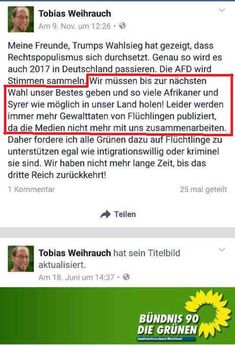 Weihrauch (Grüne): Die Zeit wird knapp, deshalb Deutschland mit Afrikanern und Syrern fluten