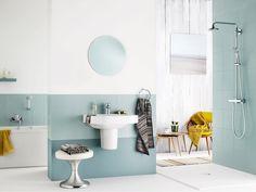 Blauw is de kleur van water, dus welke kleur past er beter in een badkamer dan blauw? - GROHE Europlus