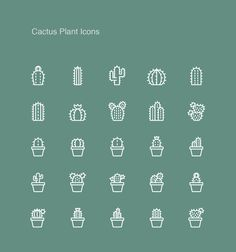 Today I'm going to show for you the Cactus Plant Icons. This icons free include 25 free cactus plant icons and line style vector format illustrations. You can use this set as an icons, or as an illustrations for your prints, web, mobile and elsewhere. Besides, Cactus Plant Icons allow you make changes in all design according to your requirement. Feel free to download and enjoy it!