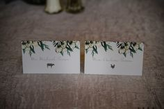escort cards - it's all in the details!