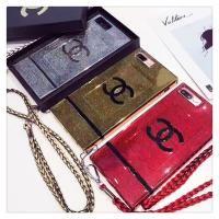 シャネル iphone8ケース ジャケット iphone7/7plusカバー きらきら iphone6s/6splusケース シリコン製 薄型 人気 ストラップ付き 華奢風