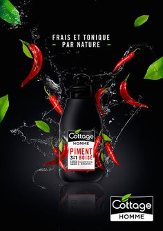 Cottage Homme on Packaging of the World - Creative Package Design Gallery Food Graphic Design, Food Poster Design, Creative Poster Design, Ads Creative, Creative Posters, Freelance Graphic Design, Creative Advertising, Advertising Design, Ad Design