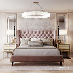 Interior design inspirations for your luxury bedroom lighting. The luxury lamp y. - Interior design inspirations for your luxury bedroom lighting. The luxury lamp you need for you int - Master Bedroom Interior, Luxury Bedroom Design, Master Bedroom Design, Luxury Home Decor, Home Interior, Home Decor Bedroom, Master Suite, Modern Luxury Bedroom, Master Master