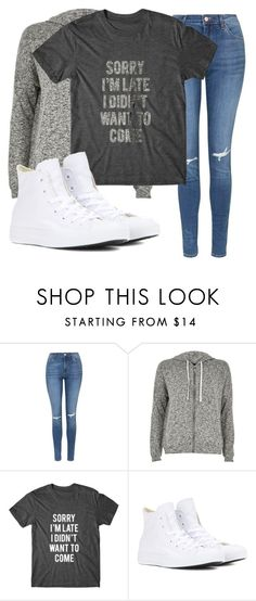 """""""39"""" by taj-freeman ❤ liked on Polyvore featuring Topshop, River Island and Converse"""