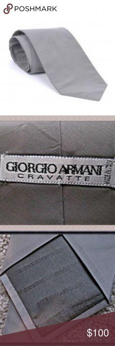 Giorgio Armani Gray Silk Tie For Men Giorgio Armani Gray Silk Tie For  Men Great For Gift Giving! Giorgio Armani Accessories Ties
