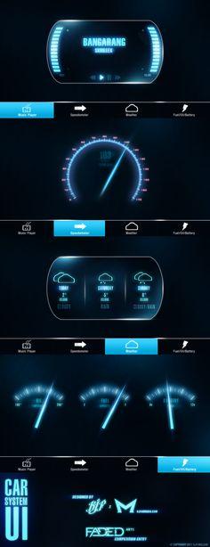Car System UI by Malcov KJF by Malcov.deviantart.com on @DeviantArt
