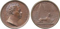 Folkes, Martin (1690-1754), copper medal 1742, struck in Rome by Hamerani