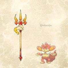 Pokeapon No. 514 - Simisear. #pokemon #simisear #trident #pokeapon