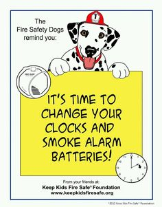 Sparkles The Fire Safety Dog New Coloring Page Its Time To Change Your Clocks And Smoke Alarm Batteries